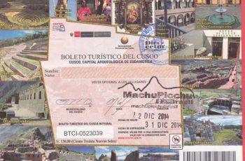 Boleto turístico de Cusco ou Cuzco