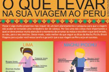 INFOGRÁFICO: O QUE LEVAR NA SUA VIAGEM AO PERU