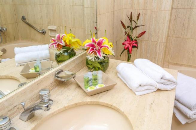 Detalhes do Banheiro do Quarto, no Hotel Jose Antonio, em Cusco, no Peru