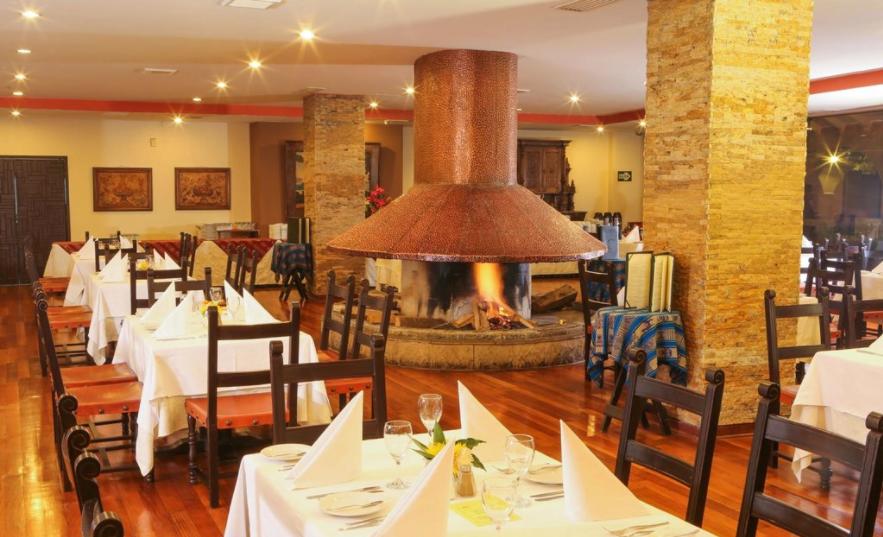 Restaurante, no Hotel Jose Antonio, em Cusco, no Peru