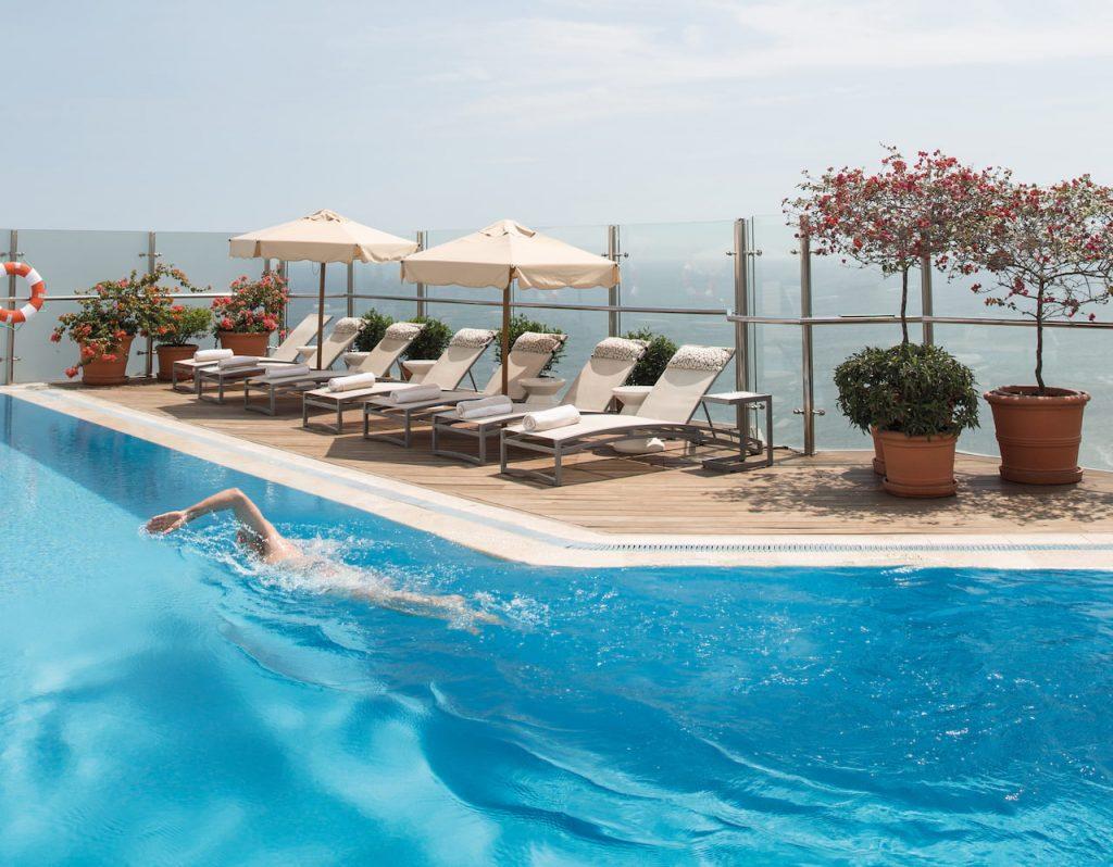 A piscina do Hotel Belmond Miraflores, em Lima, no Peru
