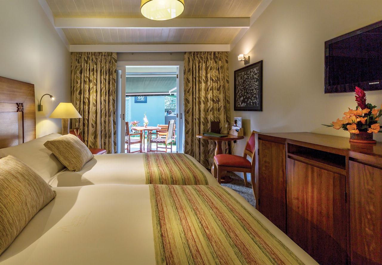 Quarto de Terraço Superior, no Hotel de Luxo Belmond Sanctuary Lodge, em Machu Picchu