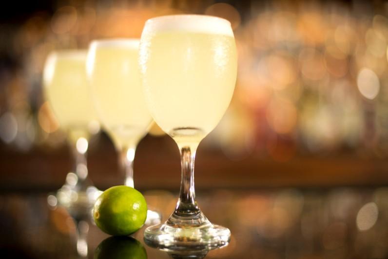 Pisco sour: bebida em restaurante em Cusco