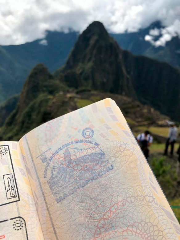 Visitar Machu Picchu e ter o carimbo no passaporte