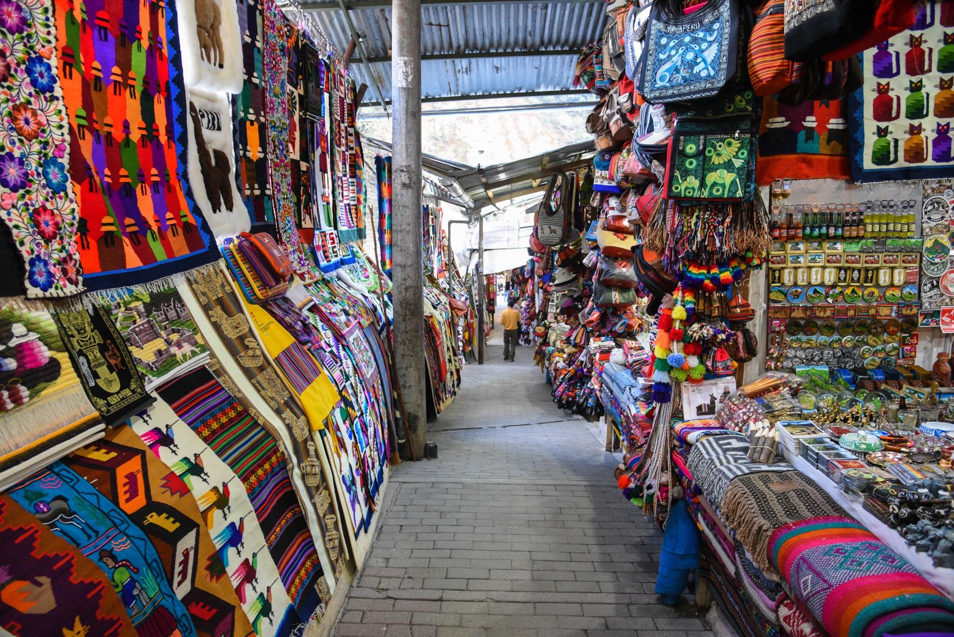 Mercado de Artesanatoem Aguas Calientes